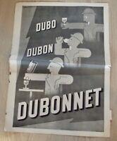 Ancienne Publicité Duby Dubon Dubonnet d'après A.M. Cassandre vintage