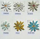 Broken China Mosaic Tiles, Daisy SIZE / COLOR Variations 1.5