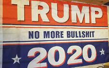 Trump 2020 No More BullShit BS Flag 3x5 Ft Polyester MAGA Outdoor Indoor