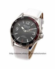 Omax Gents/Unisex Black Dial Watch, Silver Finish, Seiko (Japan) Mvt. RRP £79.99