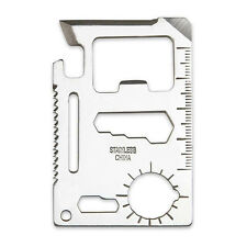 Wallet Size 11 Function Stainless Steel Multi Purpose Tool for Doomsday Survivor