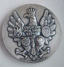 POLISH POLAND WWI 1918 MARSHAL PILSUDSKI LEGION table MEDAL  WATROBSKA