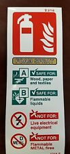 FIRE EXTINGUISER FOAM SPRAY SIGN 200mm x 75mm SELF ADHESIVE / STICKY BACKED