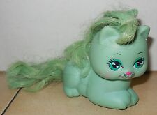 Vintage 1989 Mattel My Little pretty Kittie Kitty ROSEBUD Green Aqua Cat RARE