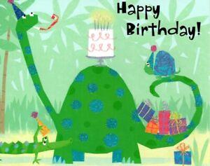 Happy Birthday Dinosaur Dinosaurs & Cake Theme Hallmark Greeting Card