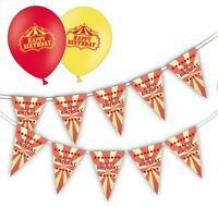 "Happy Birthday - Circus Bundle - 12"" R&Y Assorted Balloons Pack of 25  & Bunting"