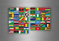 Planche autocollant sticker drapeau pays rangement classement afrique r2 timbre