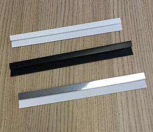 Black, Silver, White End Cap Trim 2.6m Plastic PVC Wall Panels Cladding 5mm