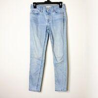 Levi's 710 Womens Size 27 Super Skinny Fit Blue Light Wash Denim Jeans