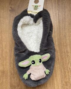 PRIMARK Star Wars Baby Yoda Women's Footlet Ladies Cosy Slipper Socks Fluffy Bed
