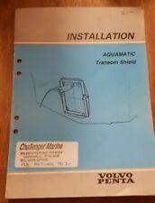Genuine Volvo Penta Aquamatic Transom Sheild Installation Manual 290 & 290 DP