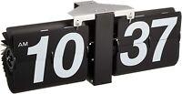AZUMAYA-kk Flip Clock Black pata pata Table and Wall Clock CLK-118BK Analog