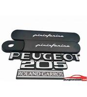 Kit custodes PEUGEOT 205 roland garros noire + 3 Monogrammes