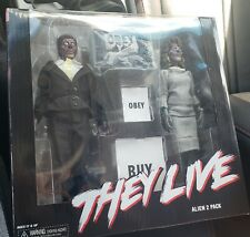 NECA They Live Retro Clothed Alien 8 inch Action Figure - 2 Pack Obey New !!