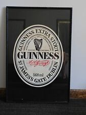 "Vintage Bar 31"" X 21"" Guinness Extra Stout St James'S Gate Dublin Wall Sign"