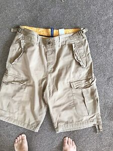 H & M Divided Shorts, 36 Waist, Beige,