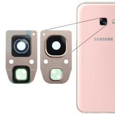 For Samsung Galaxy A3 2017 Rear Back Camera Glass Lens + Frame Cover Rose Gold
