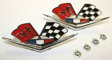 1962 1963 CHEVROLET IMPALA & CORVETTE 327 409 FENDER FLAG EMBLEMS GM RESTORATION