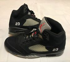 3662289754bb Nike Air Jordan 2011 Black Metallic Silver Retro 5 Size 14