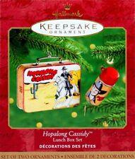 Hallmark Keepsake - Hopalong Cassidy Lunch Box & Thermos - 2 Ornament Set