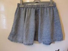 Primark Thin Blue Faded Denim Look Mini Skirt in Size 10