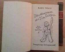 Die Abentuer des Tom Sawyer - Mark Twain gebunden illustriert deutsch Aktion