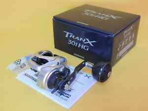 NEW SHIMANO TRANX 301HG LEFT HANDLE REEL TRX-301AHG *1-3 DAYS FAST DELIVERY*