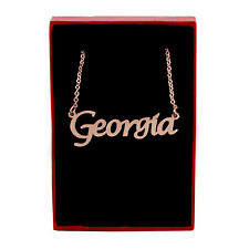 GEORGIA Name Necklace Stainless Steel / 18ct Rose Gold Plated | Anniversary Gift