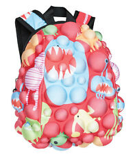 MadPax Bubble Surfaces Kids School Backpack Half Pack Monsters under the Red NEW