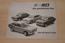 153106) Fiat 128 Sport Coupe folleto 03/1972