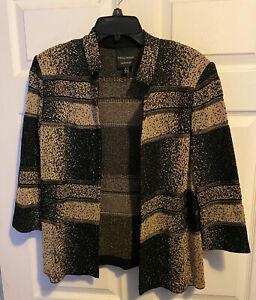 Ming Wang Sapphire open front jacket  Sz. L