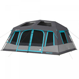 Large 10-Person Instant Cabin Tent Dark Rest Blackout Windows Outdoor Camping