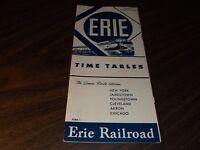 DECEMBER 1951 ERIE RAILROAD FORM 1 SYSTEM PUBLIC TIMETABLE