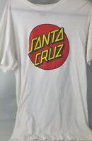 Santa Cruz Classic White Tshirt Sz M