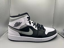 "Air Jordan 1 MID - ""Shadow"" - Black/White-LT Smoke Grey - Men's 8-13"