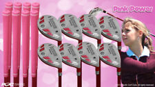 "Petite Women's iDrive Golf Clubs Pink Hybrid (4-SW) Full Set Lady ""L"" Flex Clubs"