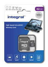 Integral 32GB Micro SDHC Card 32GB Memory Card With MicroSD Adapter phone Tablet