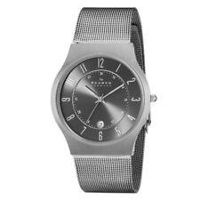 Skagen Grenen Titanium and Grey Steel Mesh Watch 233XLTTM