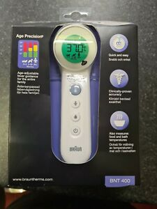 Braun No Touch Forehead Thermometer BNT400 ***BRAND NEW SEALED***
