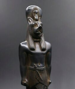 ANCIENT EGYPTIAN SEKHMET ANTIQUES GODDESS EGYPT HANDMADE STATUE STONE BC