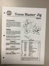 Shopsmith Tenon Master Jig Manual 555479