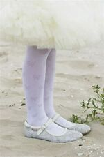 ♥ BONNIE DOON ♥ Strumpfhose Shiny BOWS UVP € 12,95 Gr. 92 - 98 Off-White
