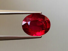 Natural Unheated Ruby 3.10 carats Vivid red color Oval shape  GRS Reropt