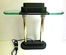 Sonneman Kovacs Halogen Bankers Glass & Metal Desk Lamp Mid Century Modern