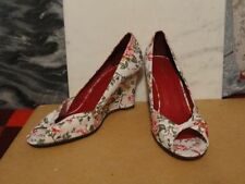 Peep Toes Floral Textile Heels NEXT for Women