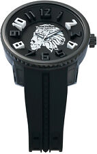 Tendence Gulliver Skull Apache White Black Quartz Watch $299 05023012A4 NWOB