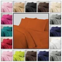 Plain 3PC Duvet Cover with Pillow Case,Fitted,Flat Sheet Single Double King Size