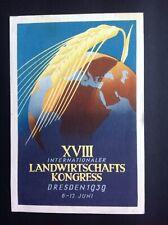 German Third Reich Dresden International Agricultural Congress 11/6/39 SpecialHS