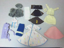 LOT OF HANDMADE BARBIE DOLL CLOTHES DRESSES SKIRTS COATS **