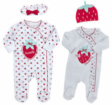 NEU Baby Mädchen Strampler Mütze Set Schlafanzug Gr.62 68 74 80 Englandmode